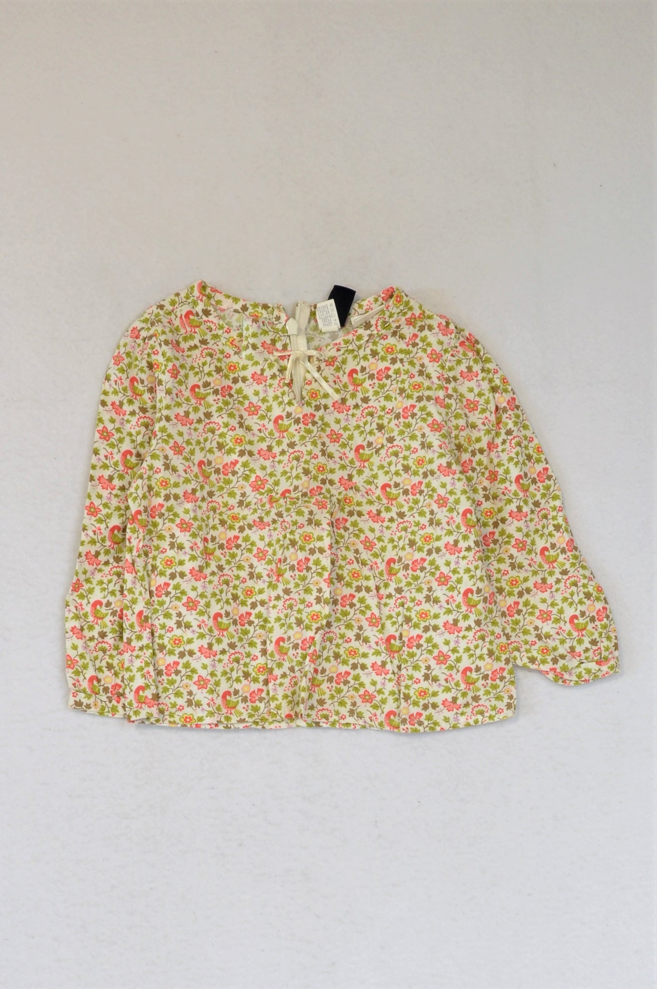 GAP Green Coral Floral Lightweight Top Girls 1-2 years