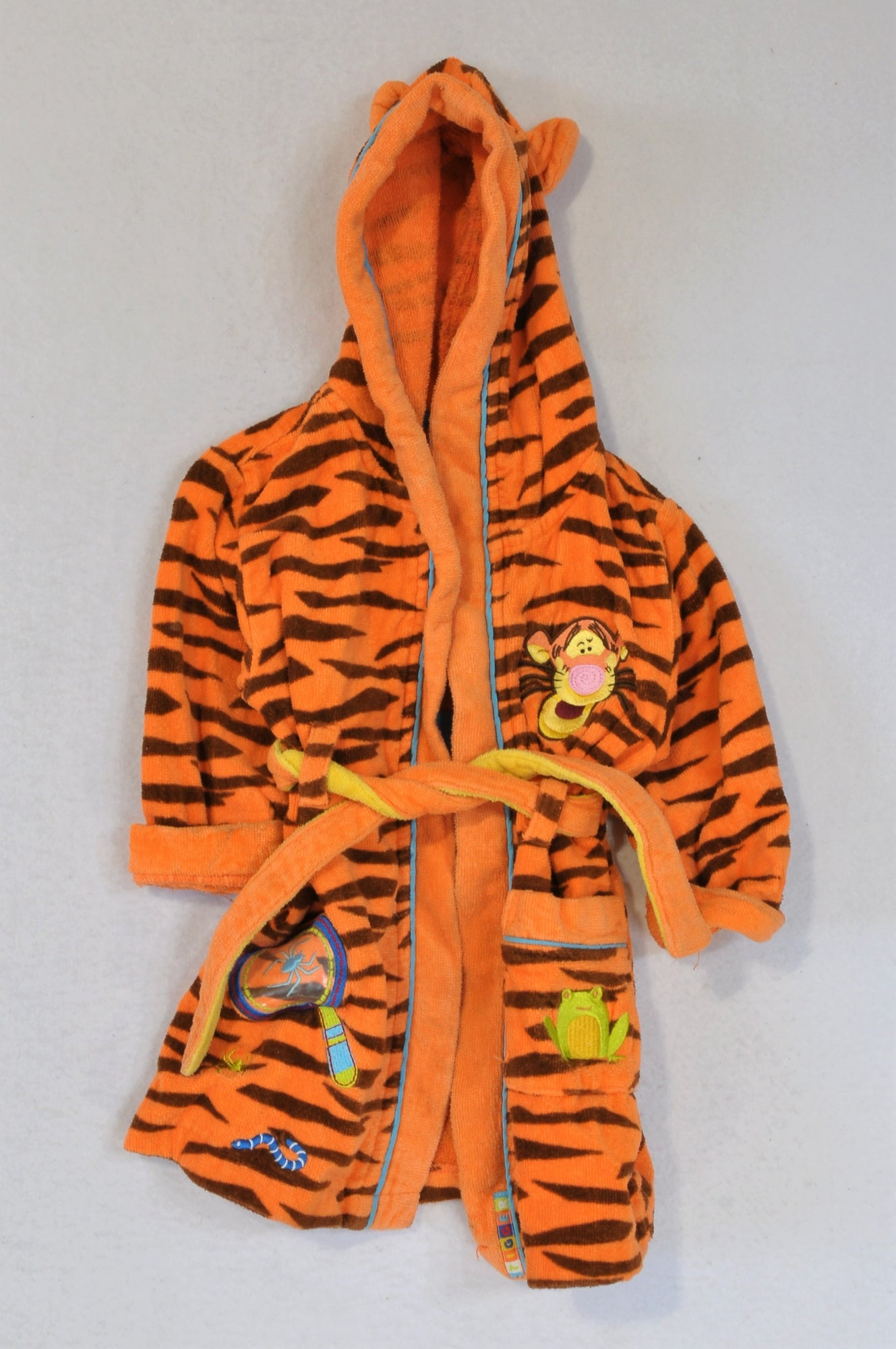 Disney Orange Terry Towel Tigger Dressing Gown Unisex 12-18 months