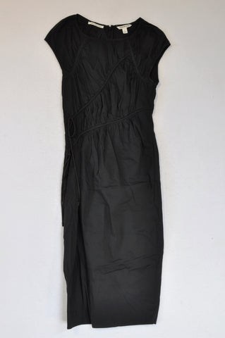 Country Road Black Lined Bodice Dress Women Size 8