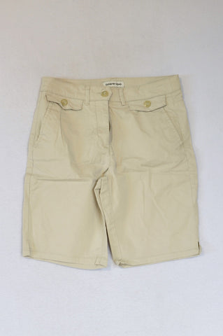 Country Road Beige Bermuda Shorts Women Size 8