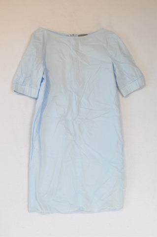 Cos Light Blue Lightweight Cuffed Sleeve Dress Women Size 10