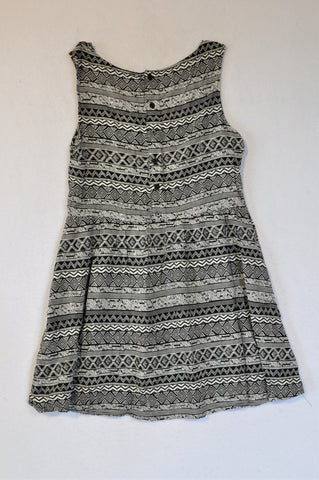 Cotton On Black & White Zig Zag Dress Women Size XS