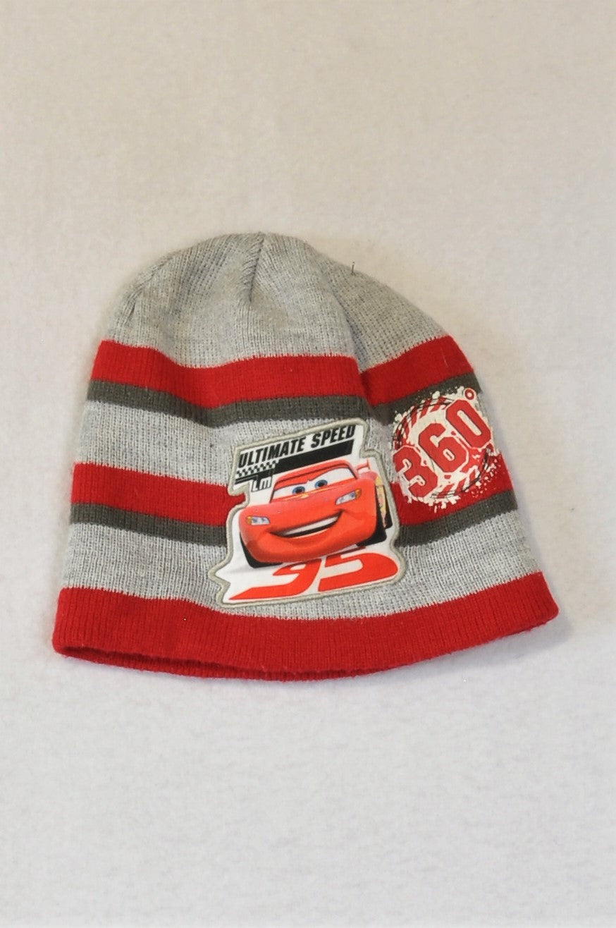 Woolworths Grey & Red Cars Beanie Boys 6-8 years