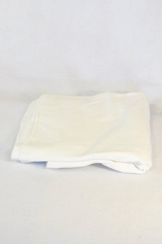 Snuggletime White Flannel Swaddling Receiving Blanket Unisex N-B to 3 months
