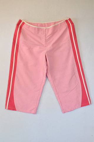 Woolworths Pink & White 3/4 Pants Women Size 18