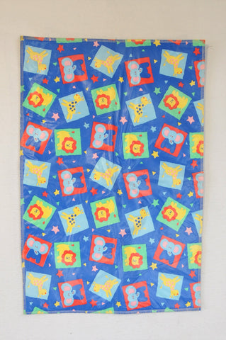 Unbranded Blue Zoo Animals Changing Mat Unisex N-B to 3 years