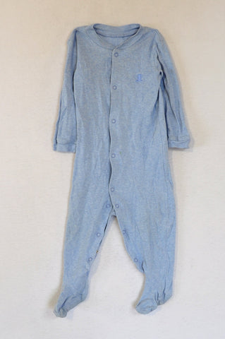Woolworths Light Blue Onesie Boys 12-18 months