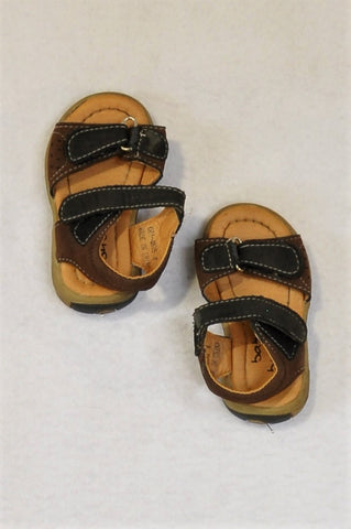 Baby Bubbles Size 4 Brown Sandals Boys 12-18 months