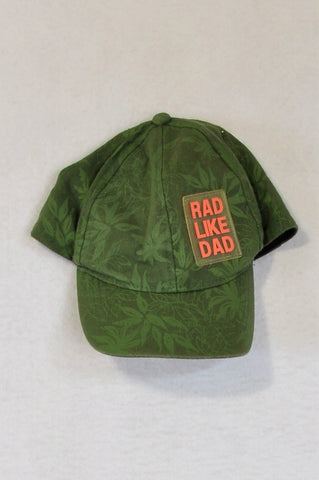 Woolworths Olive Tropical Rad Like Dad Hat Unisex 5-10 years