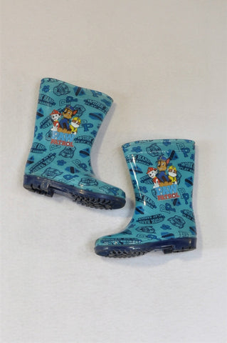 Nickelodeon Size 8 Blue Paw Patrol Wellington Boots Boys 2-3 years