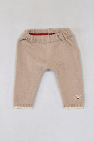 Scarlet Ribbon Merino Wool Dusty Pink Pants Girls 0-3 months