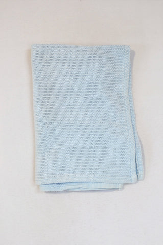 Unbranded Light Blue Knit Blanket Boys N-B to 2 years