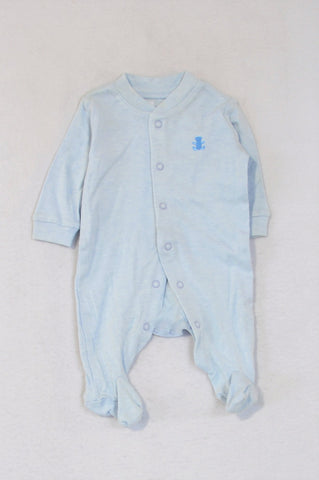 Woolworths Light Blue Onesie Boys N-B