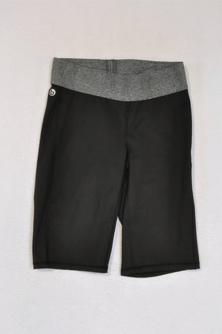 Cotton On Grey Heathered Band Black Sports Shorts Women Size XS
