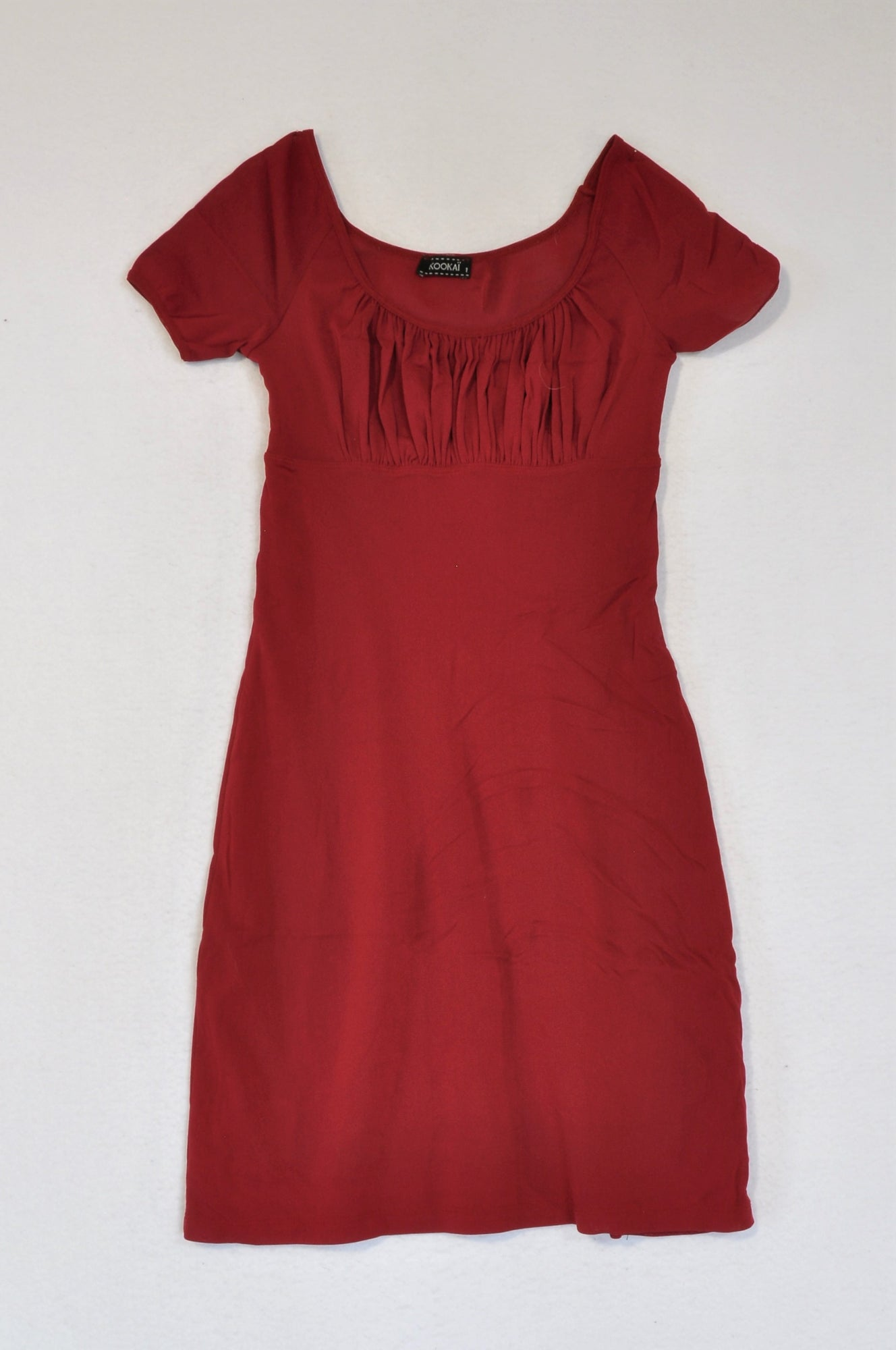 Kookai Maroon Mesh Dress Women Size S