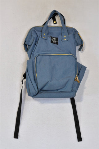 Heine Blue & Gold Zip Multifunction Nappy Bag Women N-B to 2 years