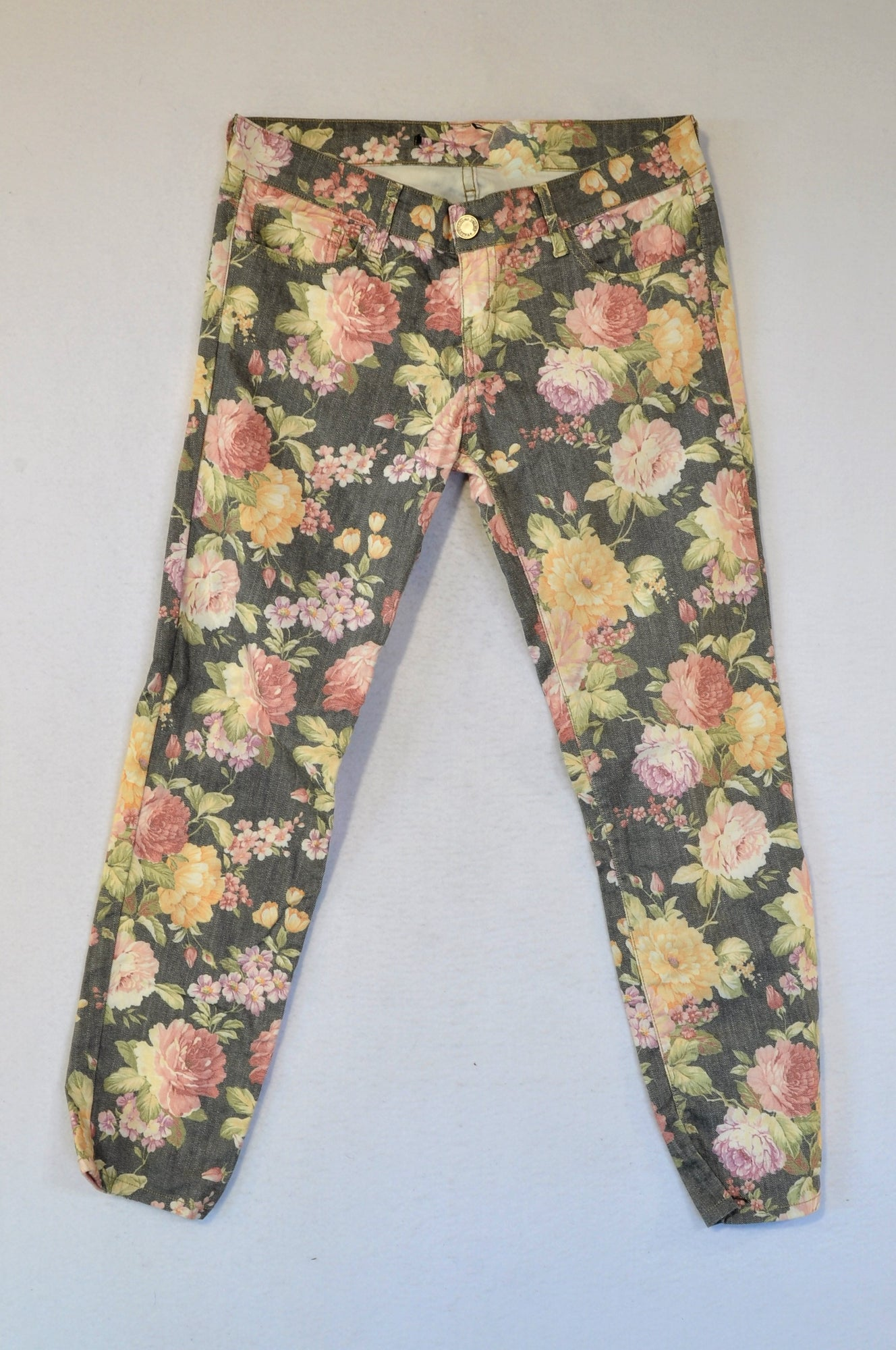 Unbranded Floral Jeans Women Size 12