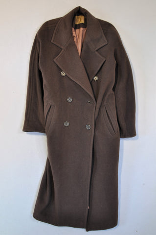 Unbranded Brown Longer Length Wool Blend Coat Women Size 38