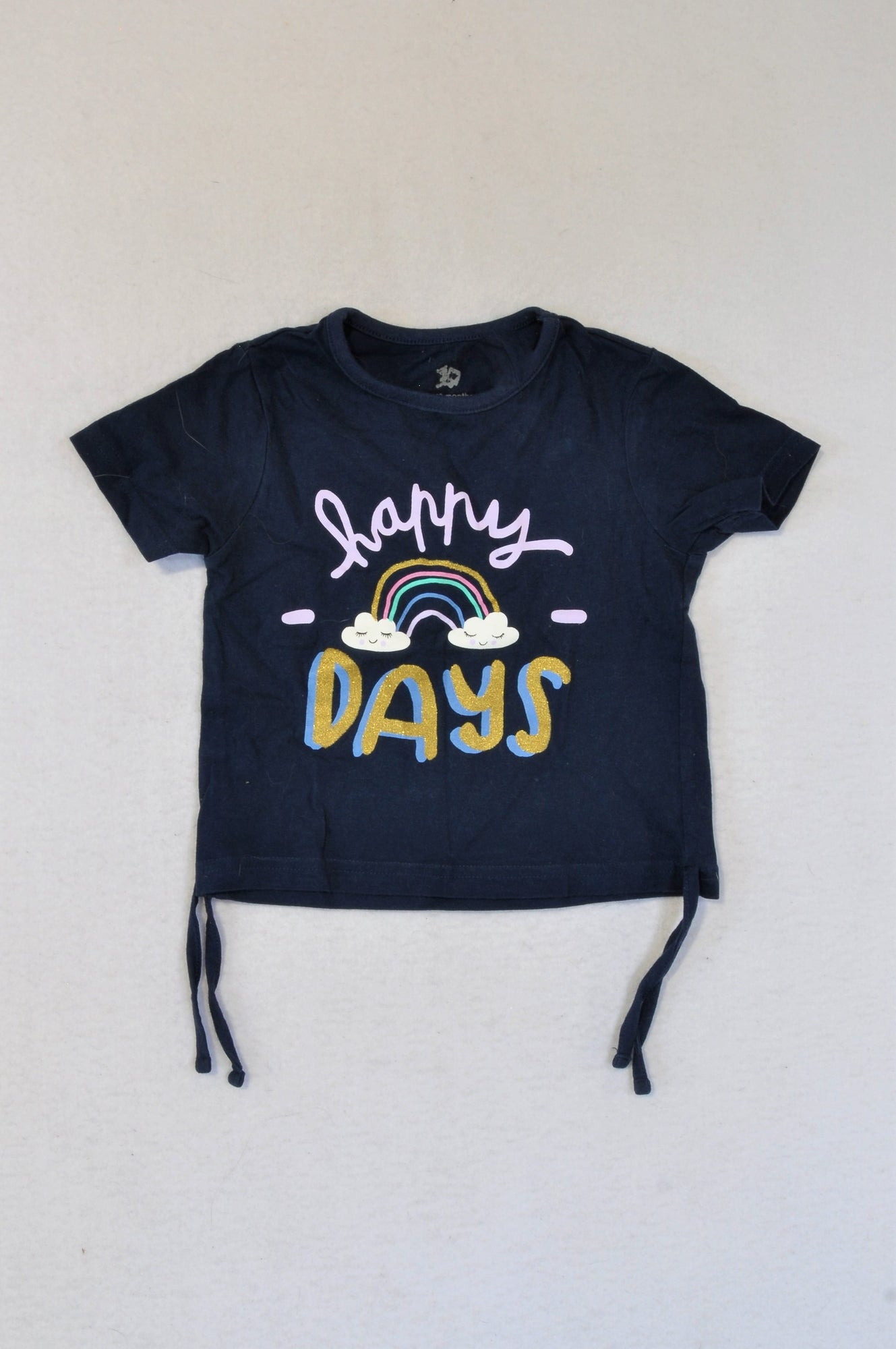 Woolworths Navy Happy Days T-shirt Girls 12-18 months
