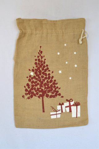 Unbranded Hessian Red Tree Sack Christmas Stocking Unisex