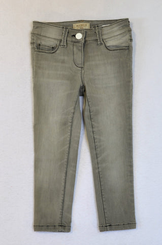 Next Grey Skinny Stretch Jeans Girls 5-6 years