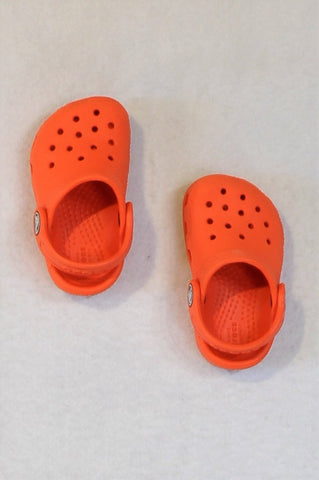 Crocs Orange Sling Back Sandals Unisex Infant Size 3