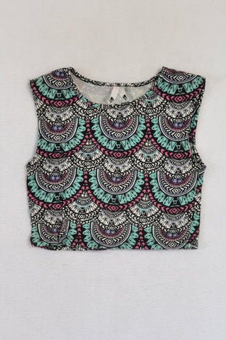 Mr. Price Blue & Pink Tribal Cropped Top Girls 11-12 years