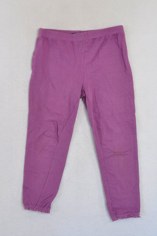 Pick 'n Pay Purple Crochet Trim Pants Girls 11-12 years