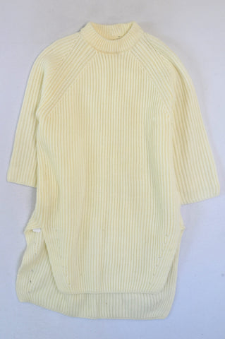 Woolworths Ivory Wool Blend Longer Length 3/4 Sleeve Jersey Women Size M