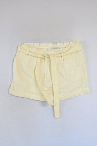 Forever New Ivory Lace Tie Shorts Women Size 16