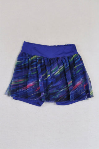 Adidas Blue Multicolour Tulle Skort Girls 3-4 years