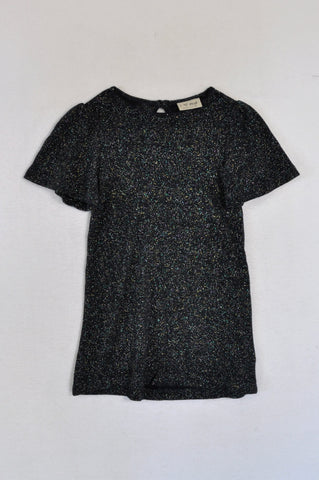 Next Navy Multicolour Sparkle Knit Top Girls 3-4 years