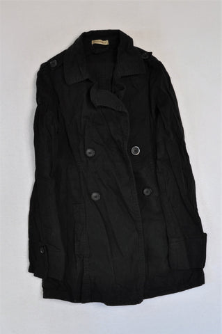 Pick 'n Pay Black Button Coat Women Size 8