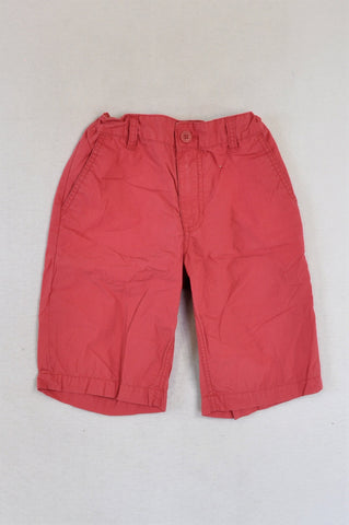 Old Navy Coral Elasticated Waist Shorts Unisex 7-8 years