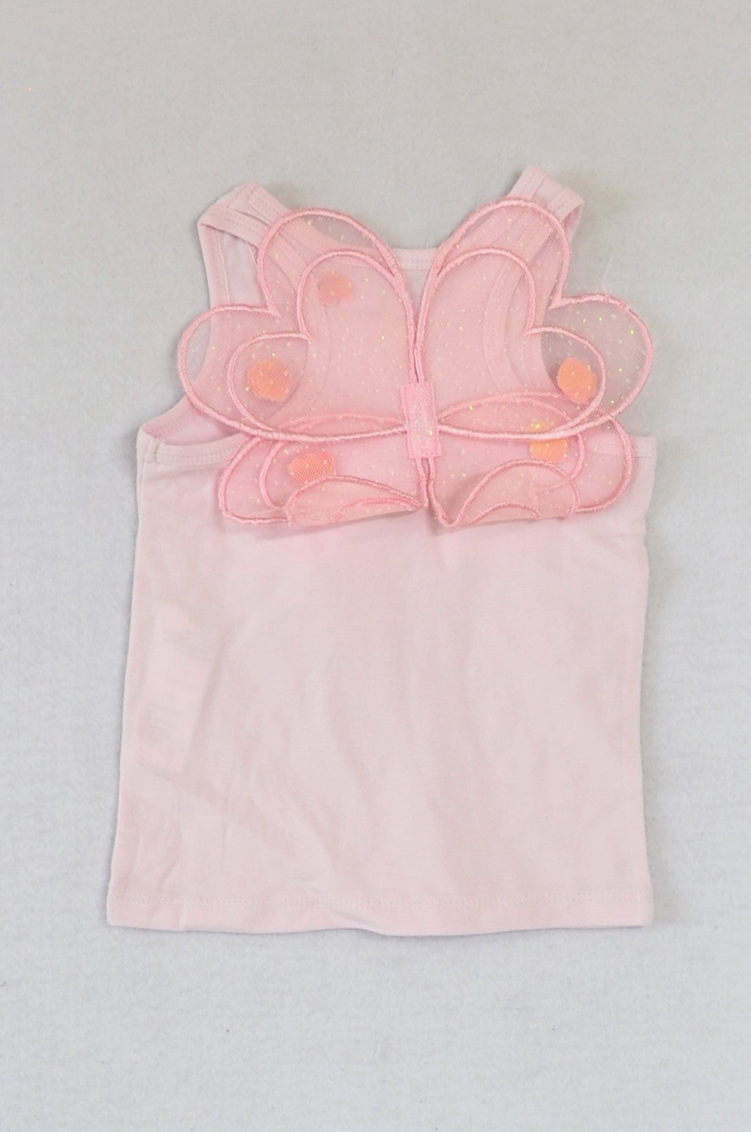 New Cotton On Light Pink Fairy Wing Tank Top Girls 1-2 years