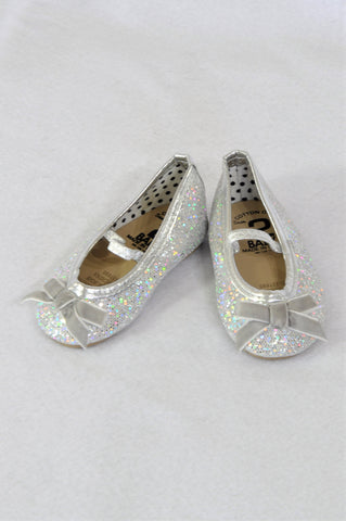Cotton On Silver Glitter Pump Shoes Girls Infant Size 2