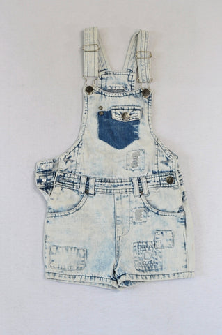 Pick 'n Pay Acid Wash Distressed Dungarees Girls 6-7 years