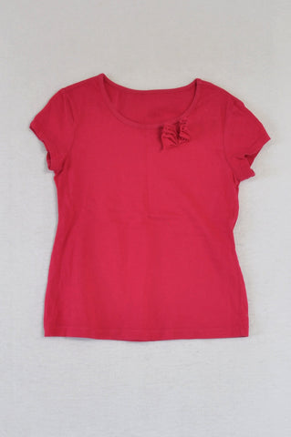 Woolworths Pink Flower Detail T-shirt Girls 6-7 years