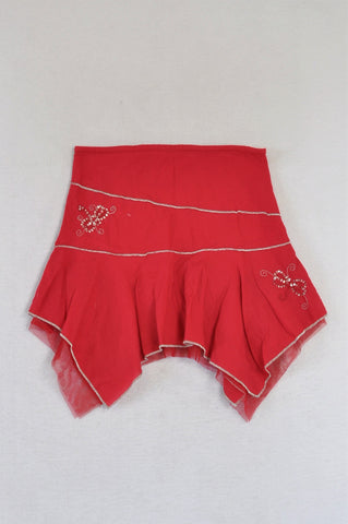 Woolworths Red Pixie Hem Skirt Girls 2-3 years