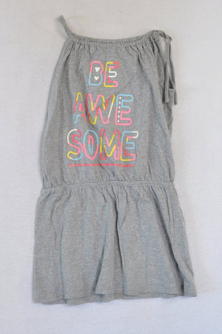 Woolworths Grey Be Awesome Dress Girls 7-8 years