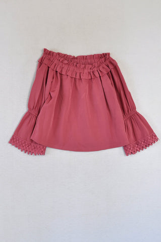 Pink Angel Magenta Off The Shoulder Top Girls 7-8 years