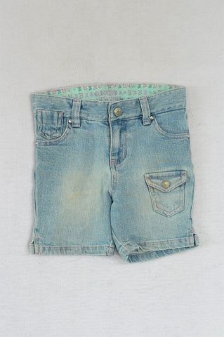 Sonoma Lightwash Embroidered Pocket Shorts Girls 3-4 years