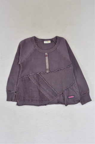 Naartjie Purple Textured Panel Top Girls 2-3 years
