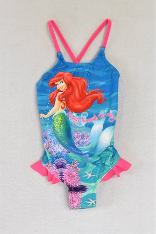 Mr. Price Blue & Pink Ariel Swimming Costume Girls 3-4 years