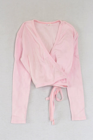 Unbranded Pink Ballet Wrap Cardigan Girls 7-8 years