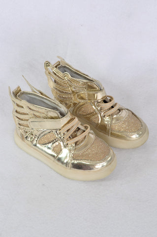 Unbranded Gold Metallic Sneaker Shoes Girls Children Size 11