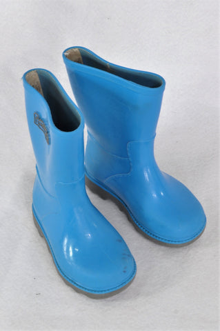 Woolworths Blue & Grey Wellington Boots Boys Toddler Size 5