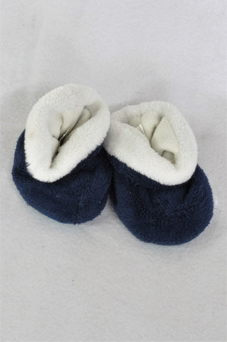 Pick 'n Pay Navy & White Fleece Booties Unisex 12-18 months