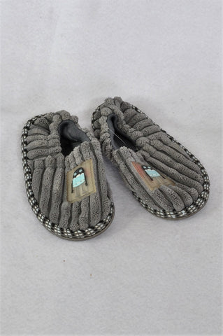 Mr. Price Grey Ribbed Robot Slippers Boys Toddler Size 6