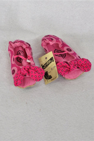 New Myang Pink Shwehwe Peep-Toe Booties Girls Infant Size 3